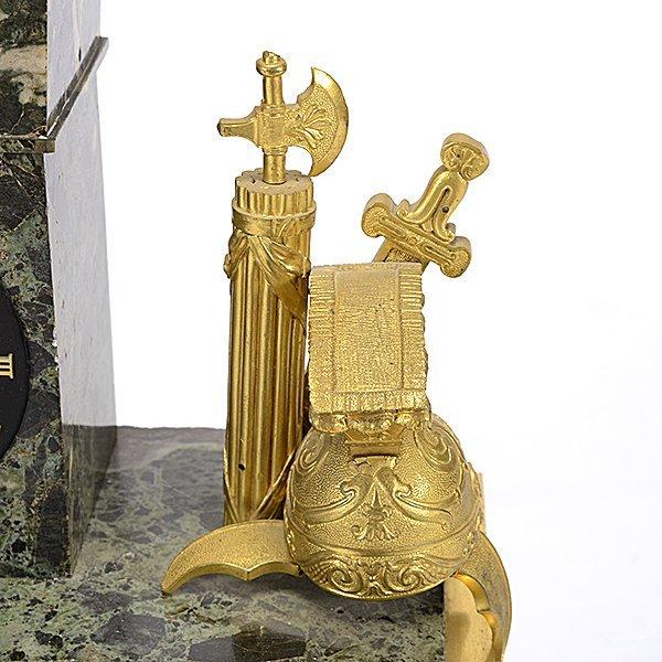 Monumental Gilt Bronze and Breccia Marble Mantel Clock - 3