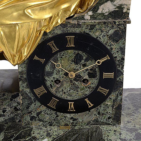 Monumental Gilt Bronze and Breccia Marble Mantel Clock - 4