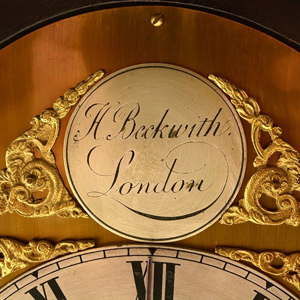 H. Beckwith English Bracket Clock - 7