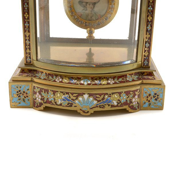 S, Marti & Co. Jewelled Champleve Enamel Gilt Bronze - 7