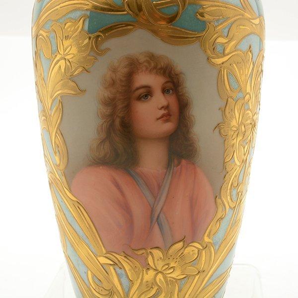 French Art Nouveau Royal Vienna Style Porcelain - 3