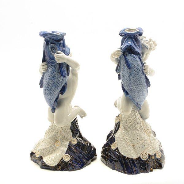 Pair of Royal Worcester Porcelain Figures of Cupid As - 2