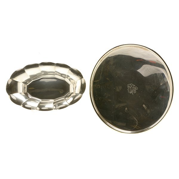 Two Tiffany Sterling Silver Trays