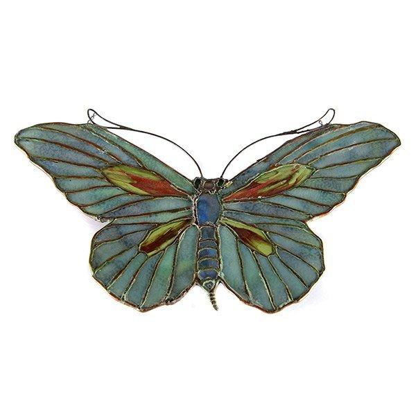 Tiffany Studios Filgree Butterfly Lamp Pendant