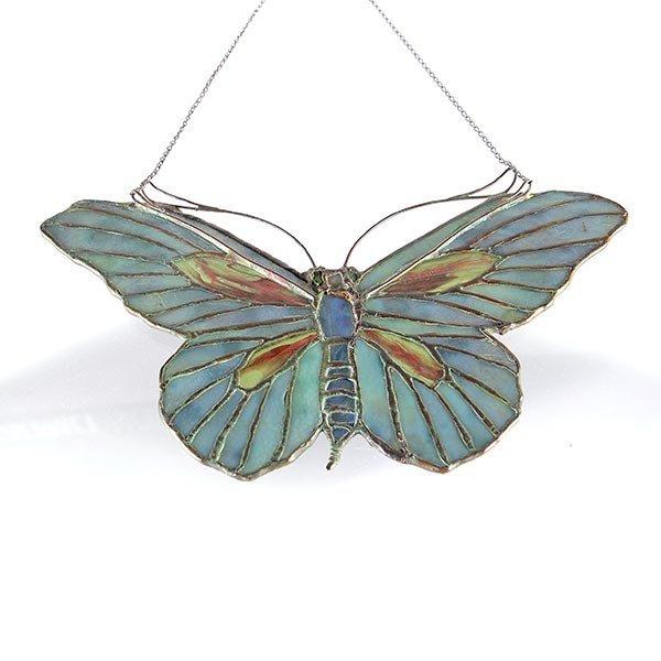Tiffany Studios Filgree Butterfly Lamp Pendant - 3