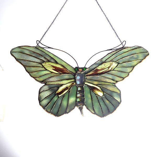 Tiffany Studios Filgree Butterfly Lamp Pendant - 4