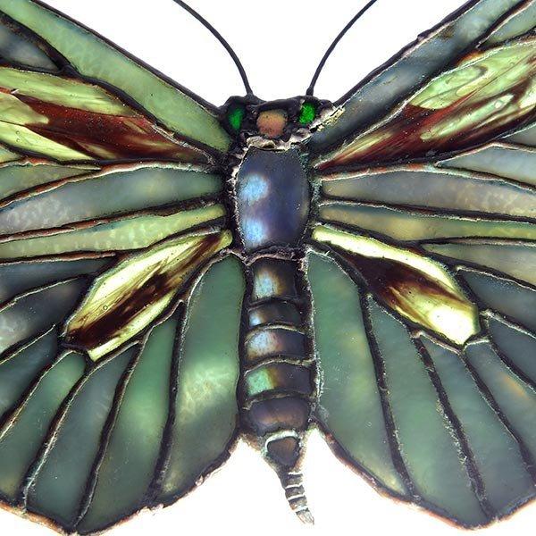 Tiffany Studios Filgree Butterfly Lamp Pendant - 5