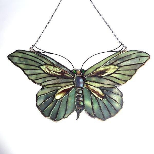 Tiffany Studios Filgree Butterfly Lamp Pendant - 6