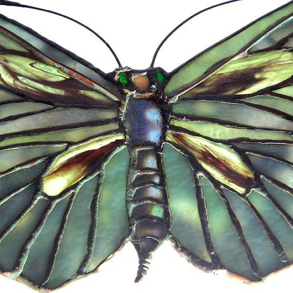 Tiffany Studios Filgree Butterfly Lamp Pendant - 7
