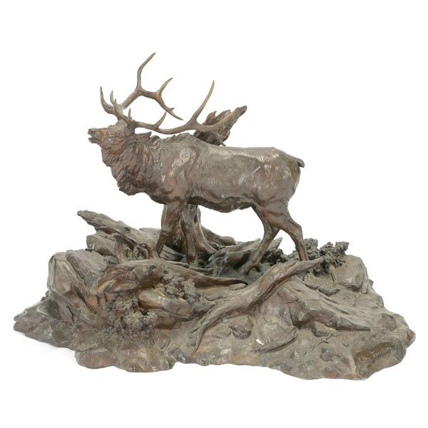 Clark Bronson (1939-) Elk Territory, 1973