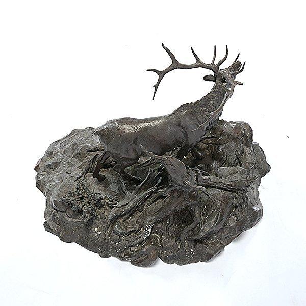 Clark Bronson (1939-) Elk Territory, 1973 - 4
