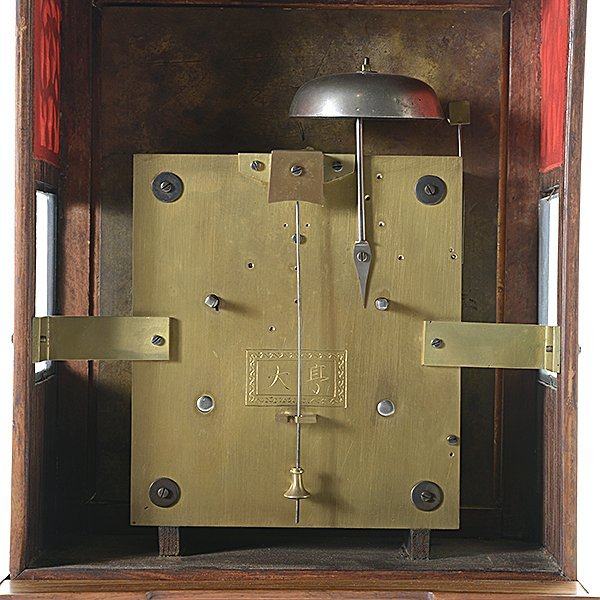 Chinese Bracket Thirty Day Clock with Pivoting Stand - 8