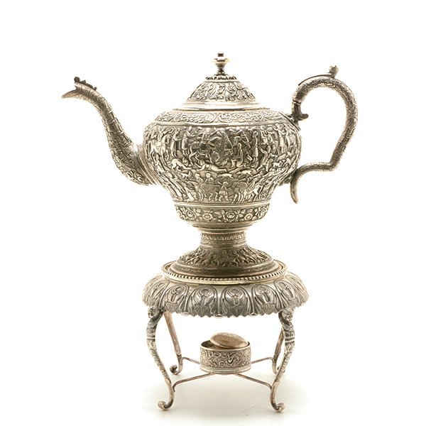 Persian Silver Tea Service with a Dutch Silver Tray - 2
