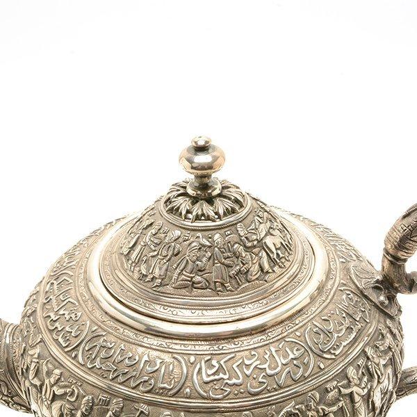 Persian Silver Tea Service with a Dutch Silver Tray - 3