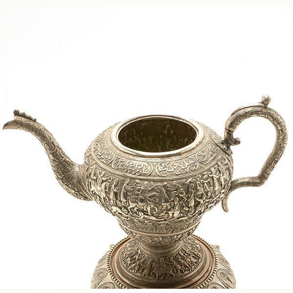 Persian Silver Tea Service with a Dutch Silver Tray - 4