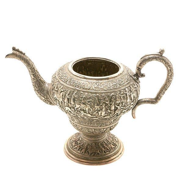 Persian Silver Tea Service with a Dutch Silver Tray - 6