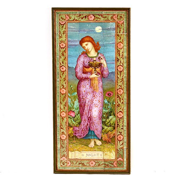 Pair of Aesthetic Movement Faience Tile Pictures of - 8