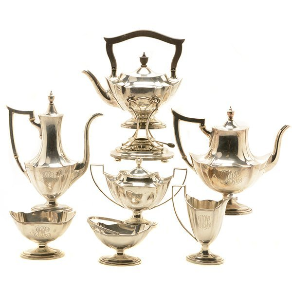Gorham Plymouth Pattern Sterling Seven Piece Tea &