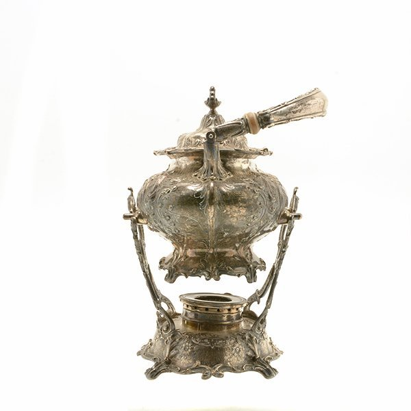 Gorham Sterling Silver Teakettle with Stand - 4