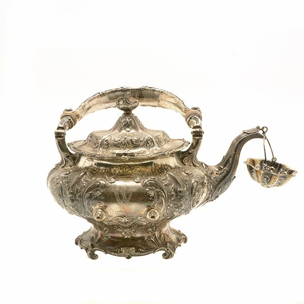 Gorham Sterling Silver Teakettle with Stand - 9