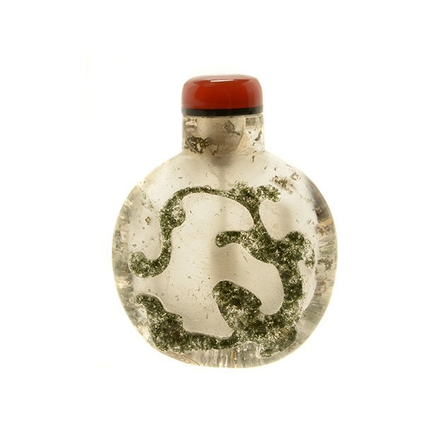 A Moss Agate Snuff Bottle, 19th Century