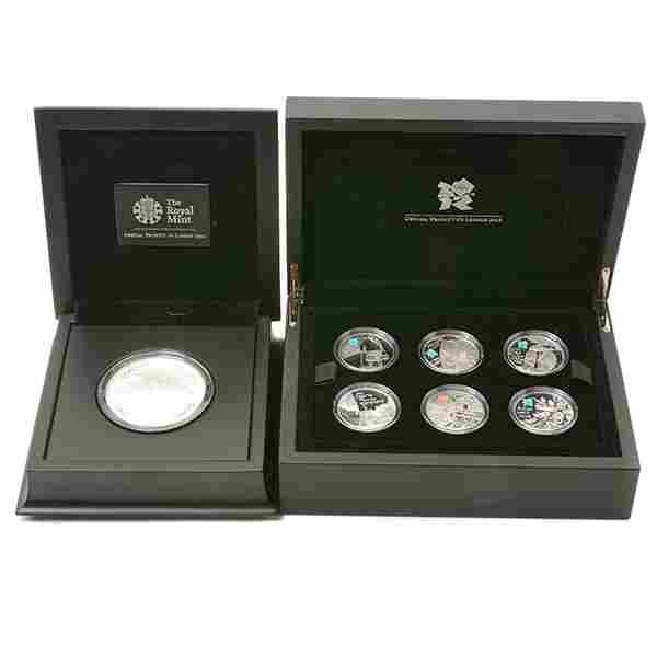 Great Britain Silver Coins in Presentation Boxes