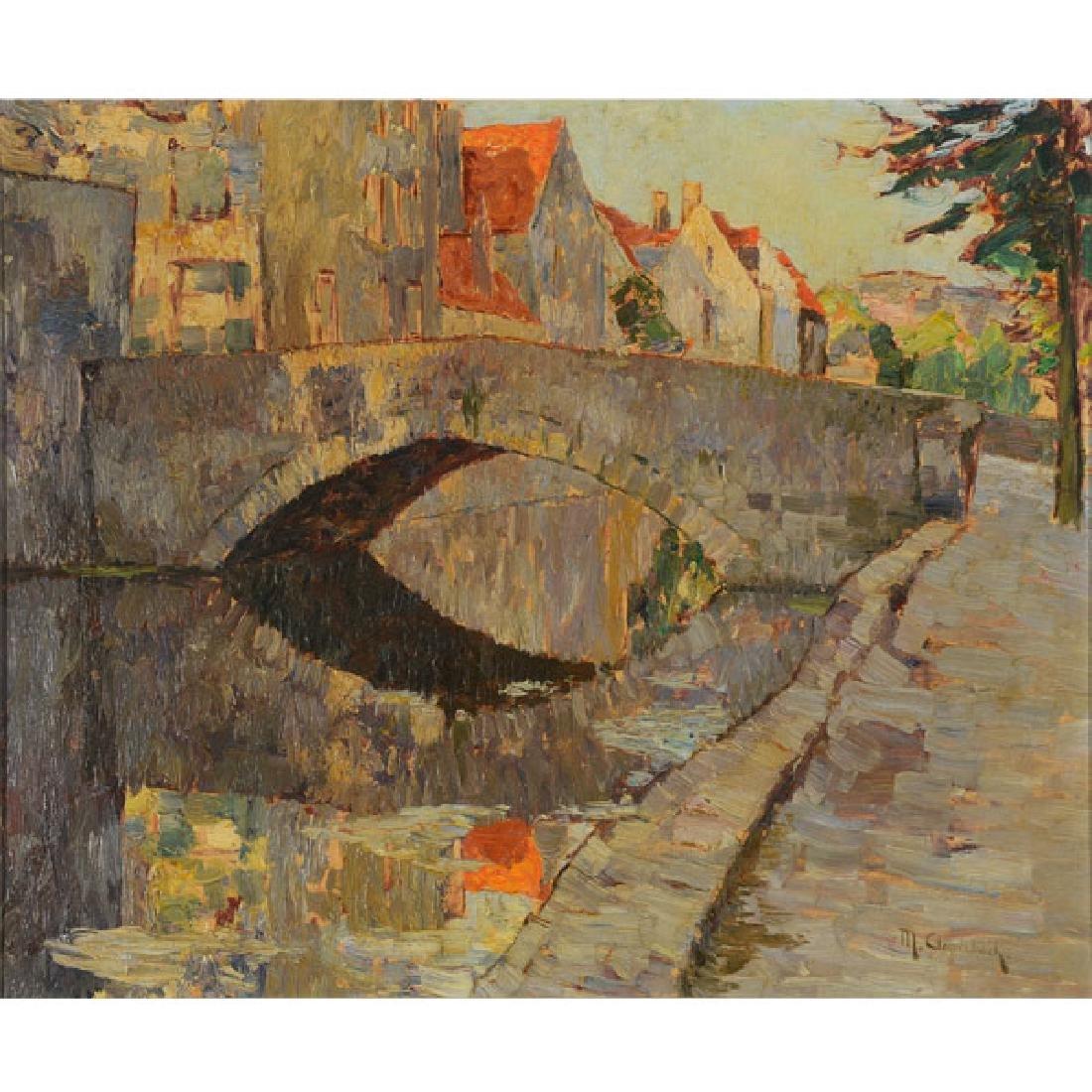 "Maximilien Clarenbach ""Untitled"" oil on canvas"