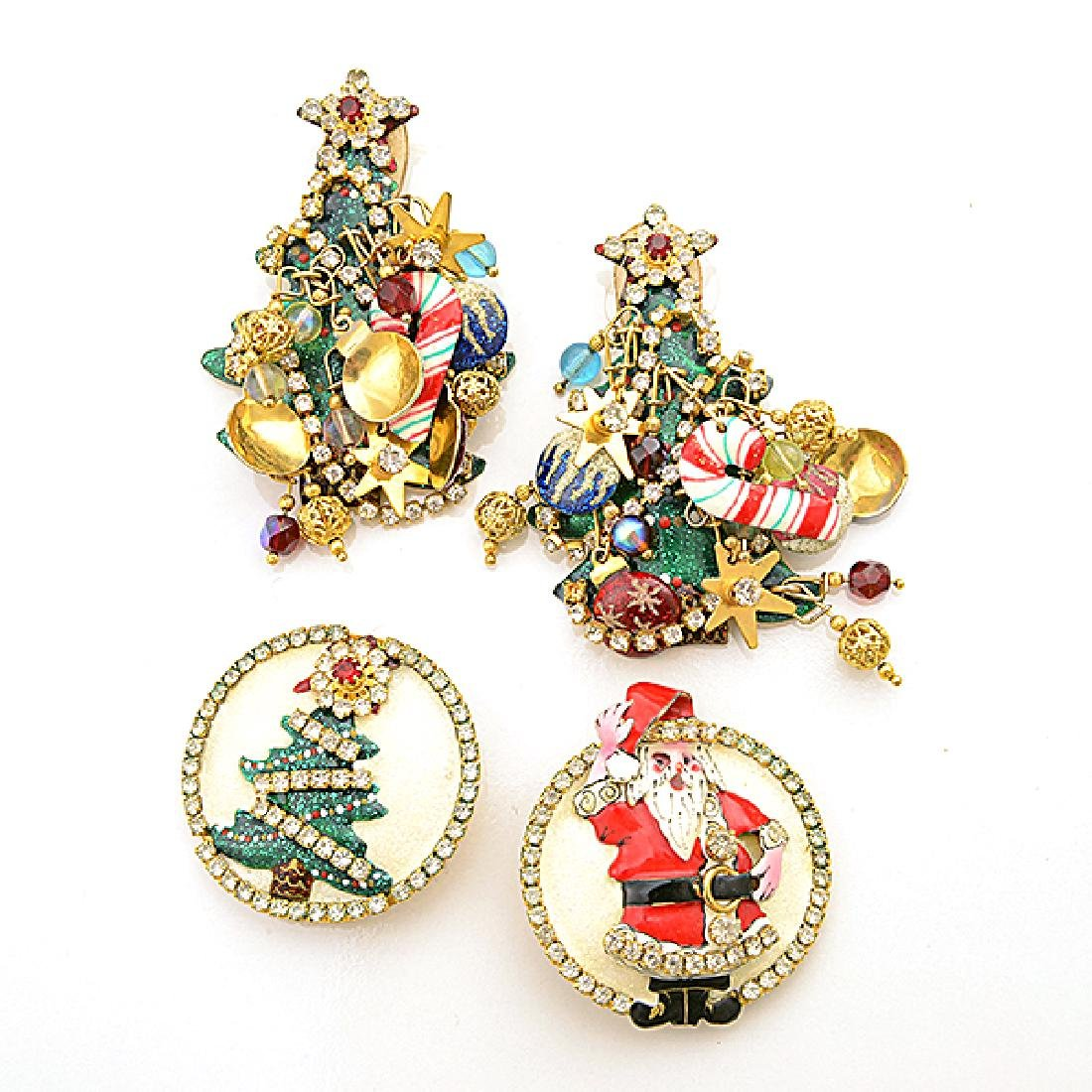 Lunch at the Ritz Couture Christmas Theme Jewelry - 2