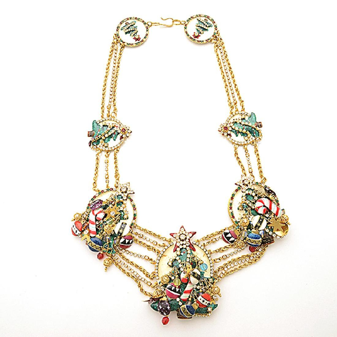 Lunch at the Ritz Couture Christmas Theme Jewelry - 4