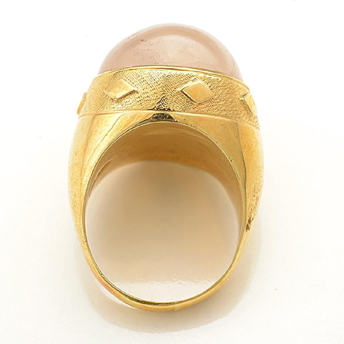Moonstone, 18k Yellow Gold Ring. - 3