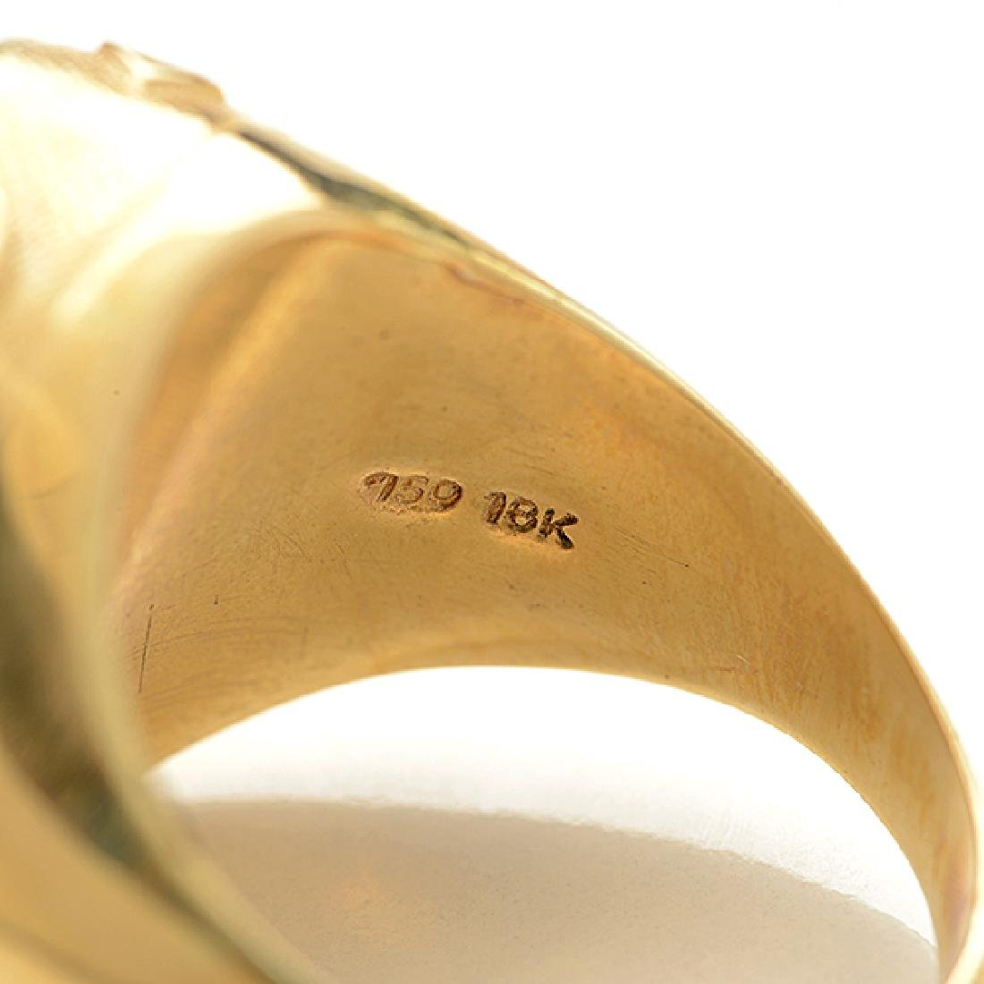 Moonstone, 18k Yellow Gold Ring. - 4