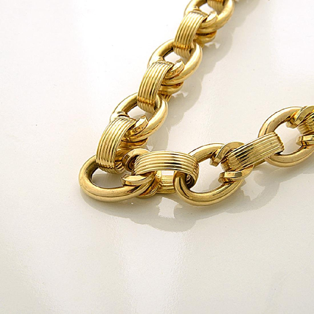 14k Yellow Gold Necklace. - 2