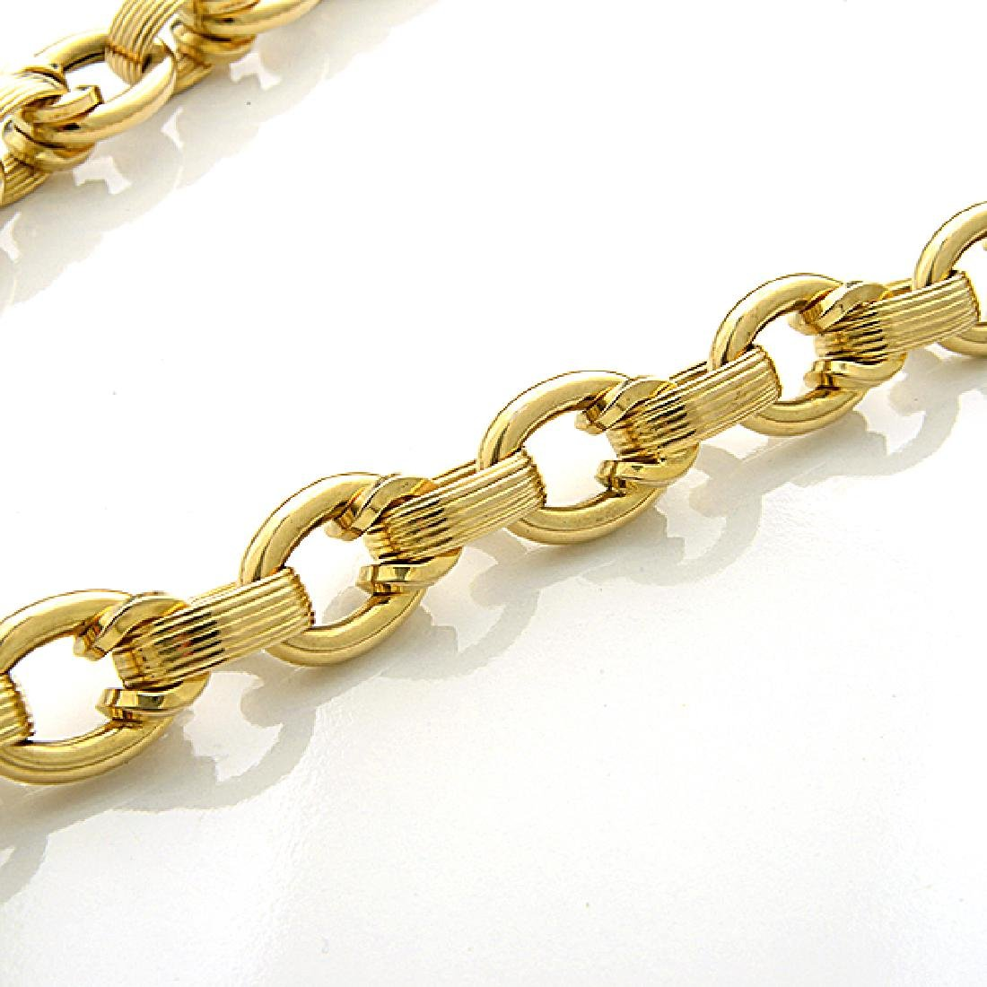14k Yellow Gold Necklace. - 3