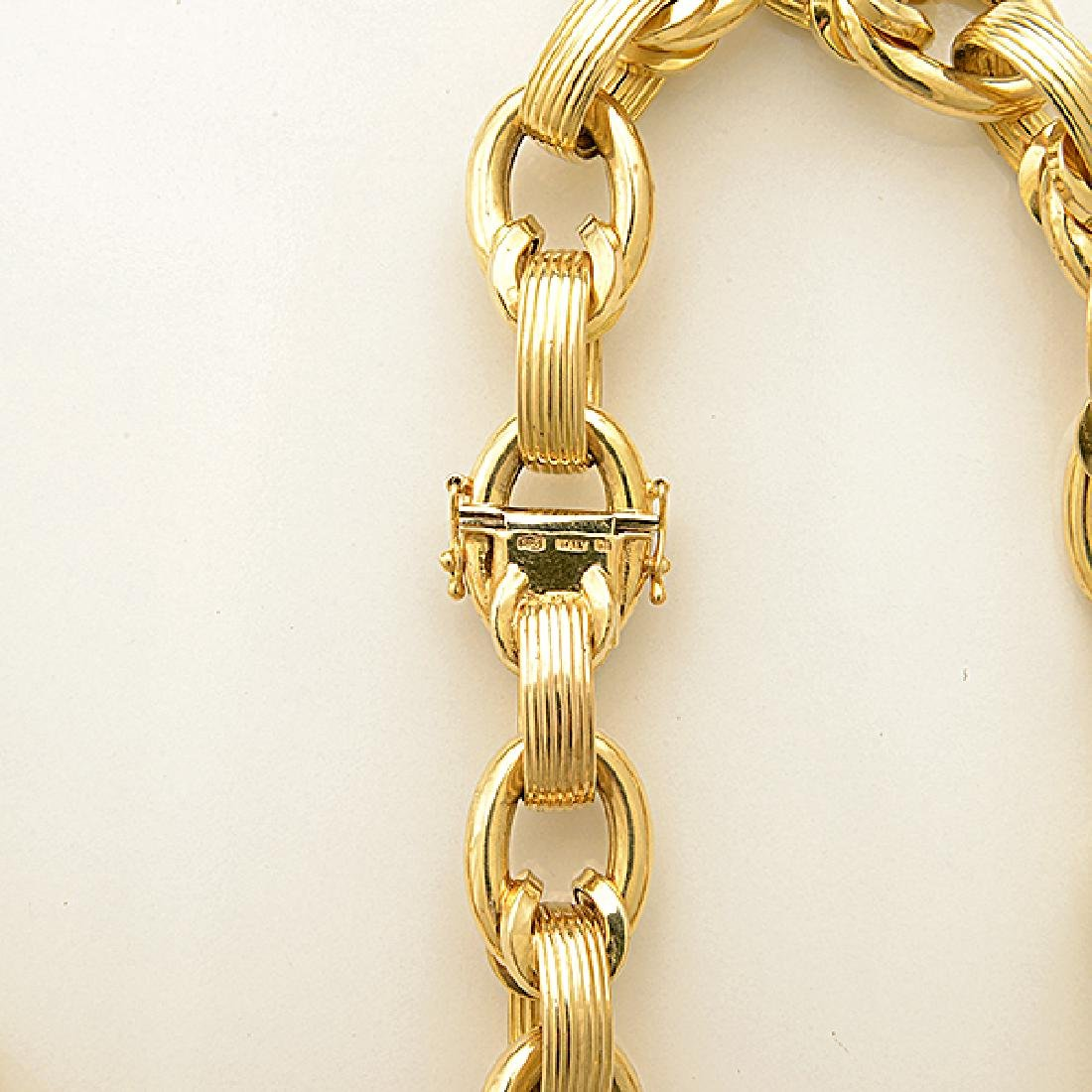 14k Yellow Gold Necklace. - 4