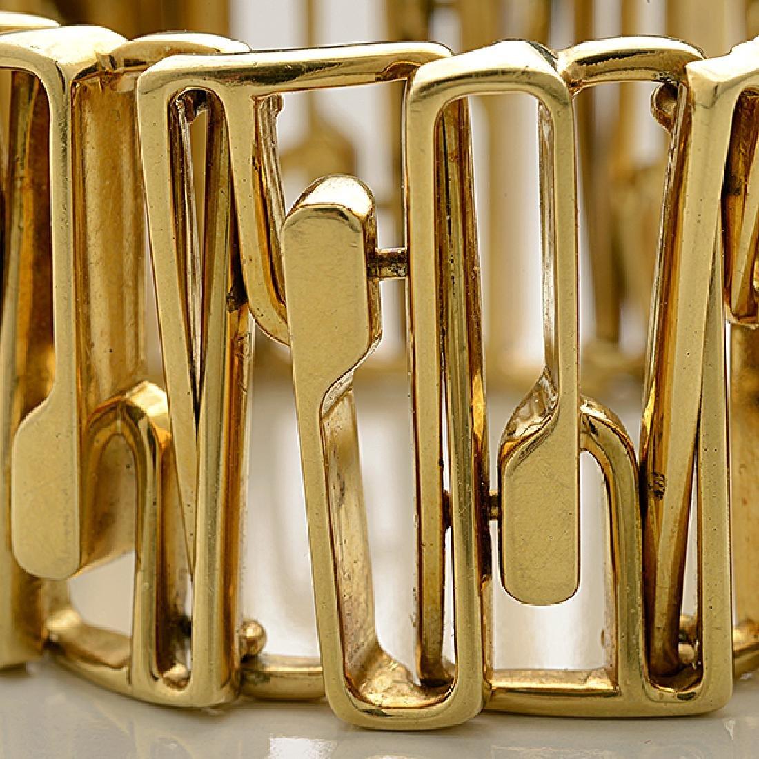 18k Yellow Gold Bracelet. - 2