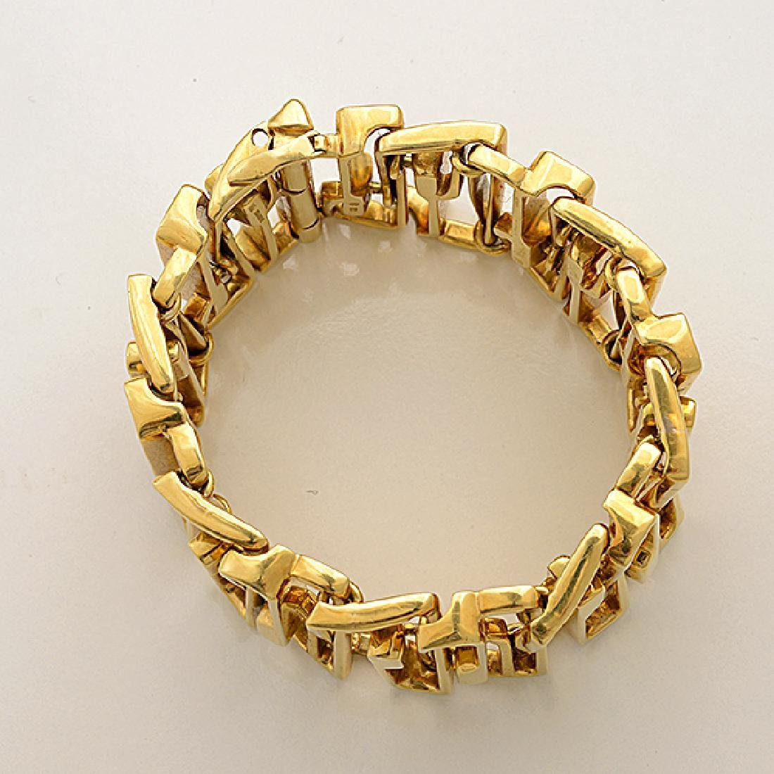 18k Yellow Gold Bracelet. - 3