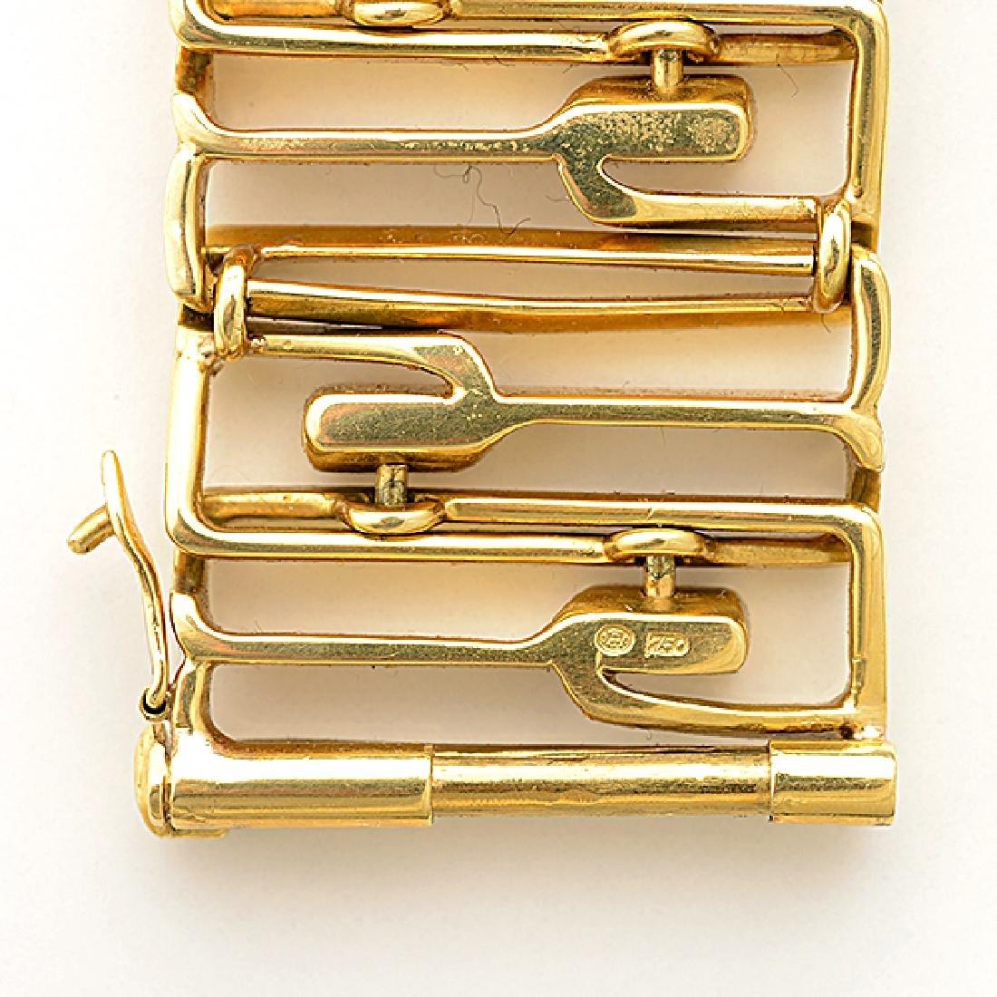 18k Yellow Gold Bracelet. - 4