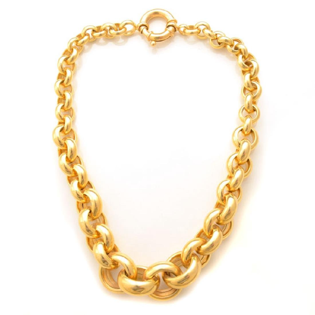 14k Yellow Gold Necklace.