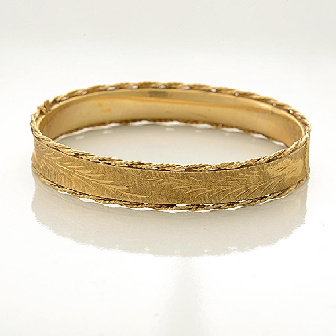 Collection of Two 14k Yellow Gold Bracelets. - 2