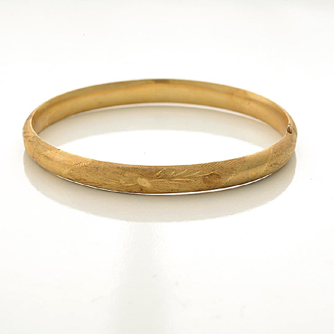 Collection of Two 14k Yellow Gold Bracelets. - 3