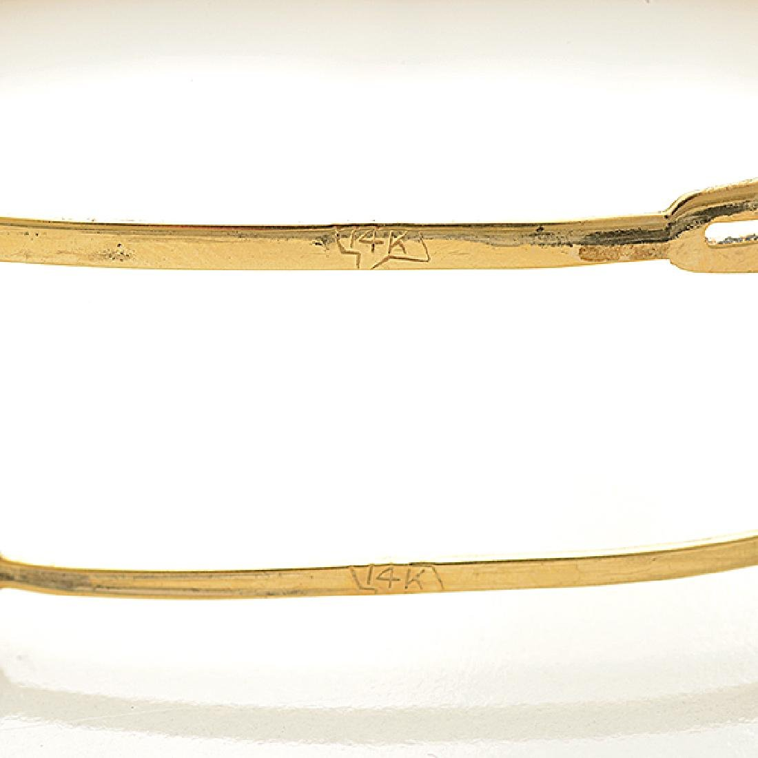 Collection of Two 14k Yellow Gold Bracelets. - 4