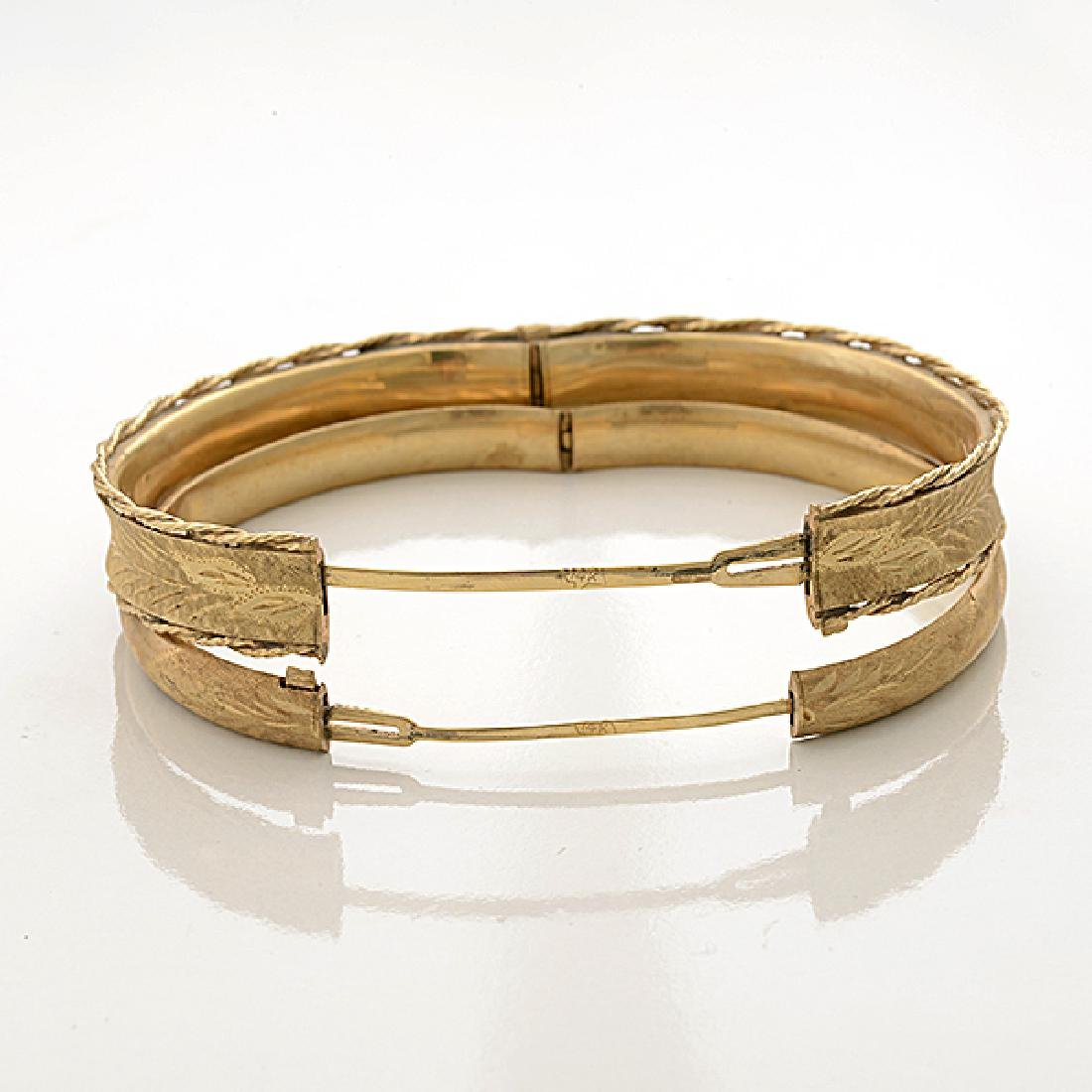 Collection of Two 14k Yellow Gold Bracelets. - 5