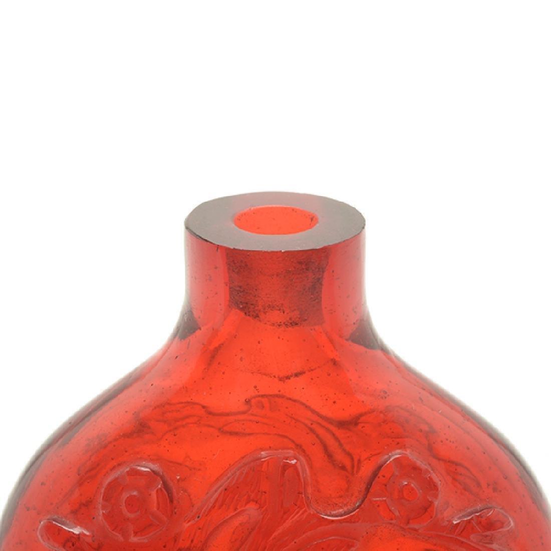 2 Monochromatic Glass Snuff Bottles, 19th C - 7