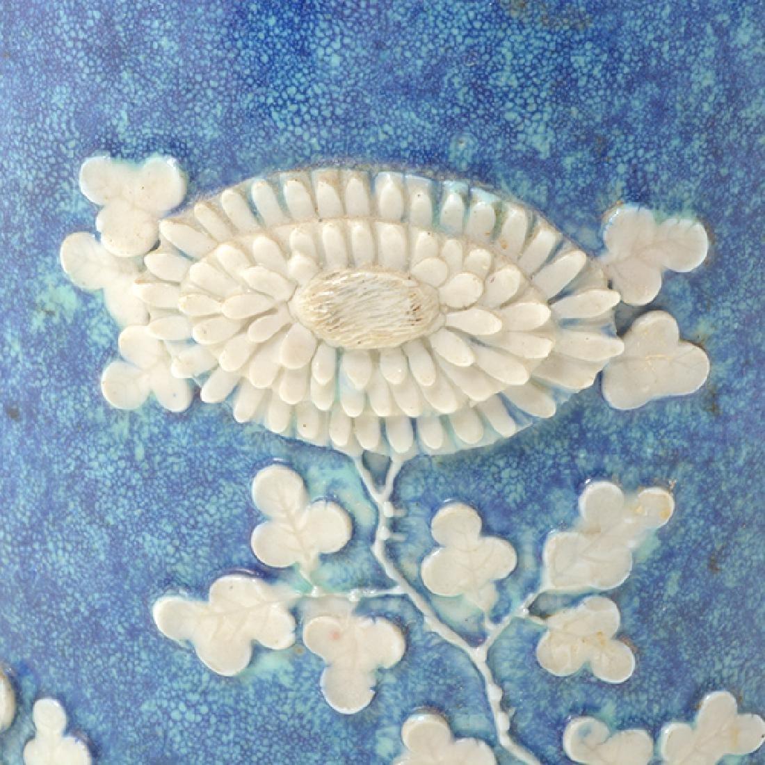 Pr of Biscuit Porcelain Brush Pots, L 19th/E 20th C - 6