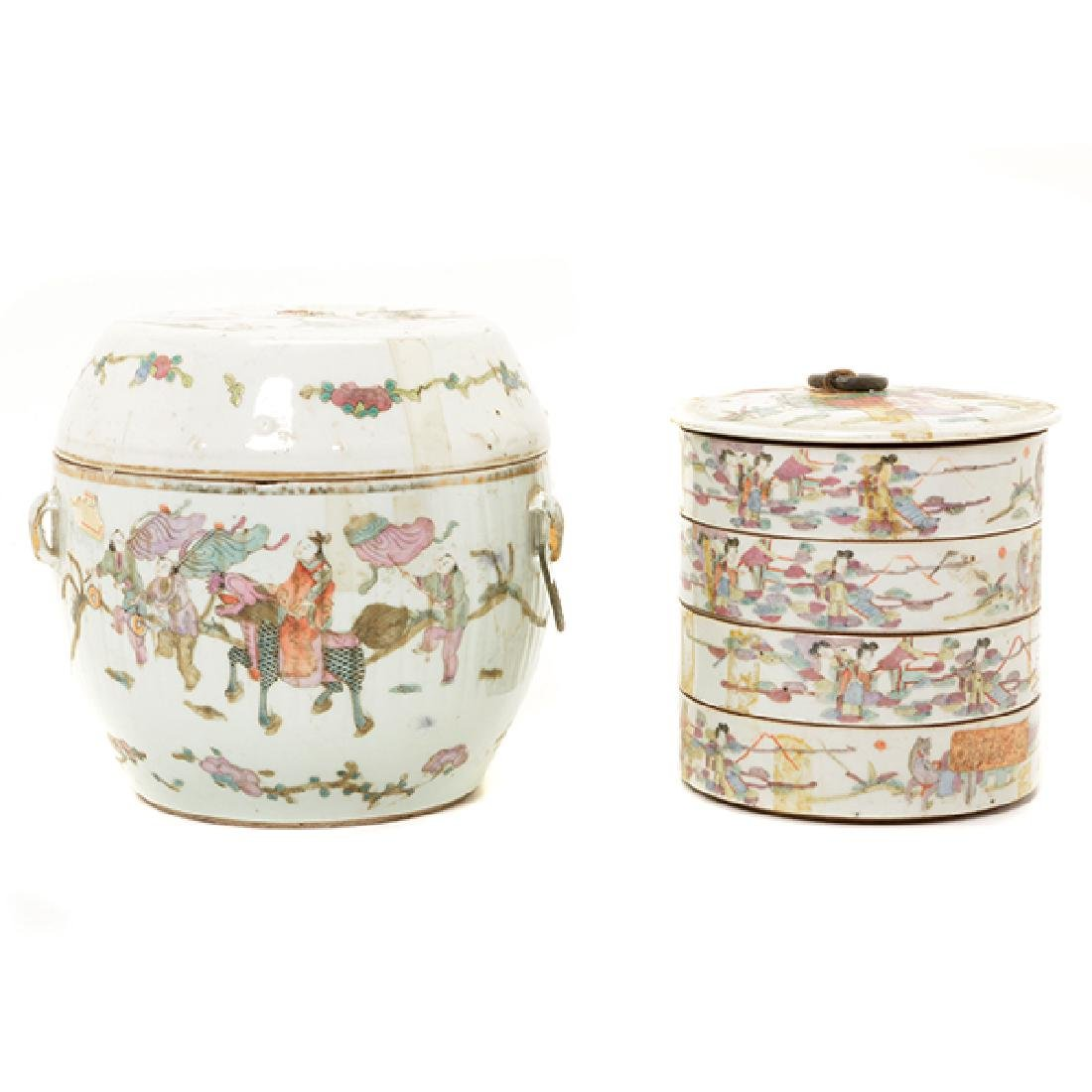 Two Famille Rose Containers, Late 19th Century