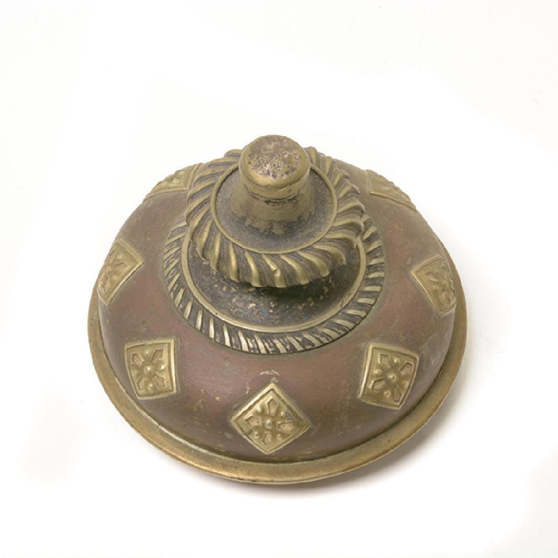 A Tibetan Gilt Copper Ewer - 4