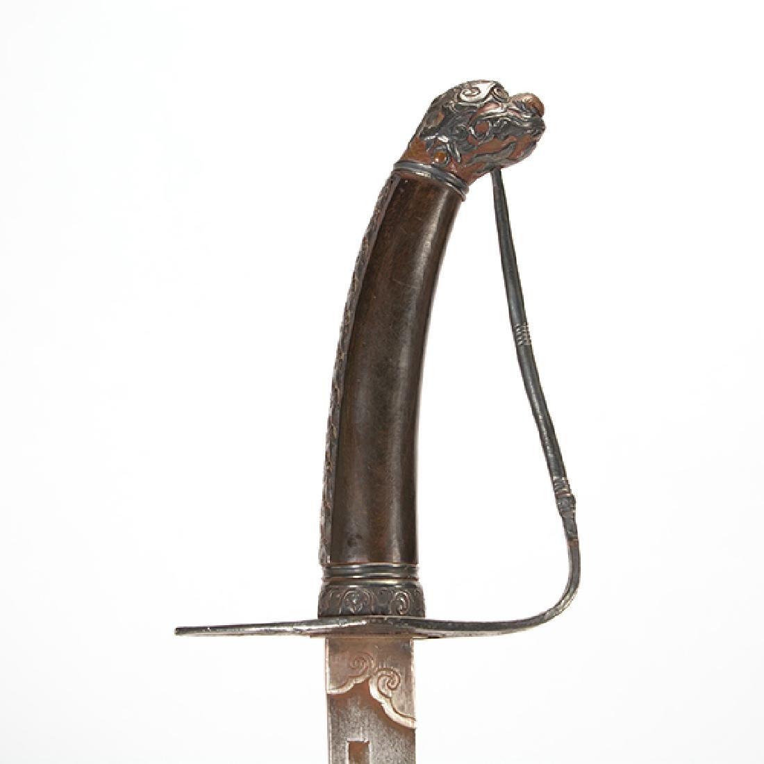 A Tibetan Ceremonial Sword, 19th Century - 3