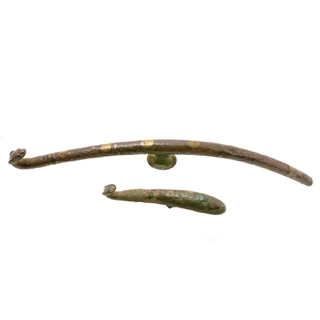 Two Bronze Belt Hooks, Han Dynasty - 2