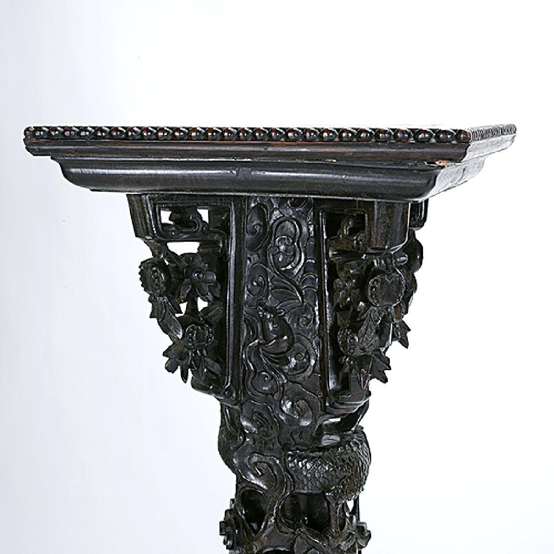 A Chinese Export Carved Wood Dragon Pillar, Circa 1900 - 2