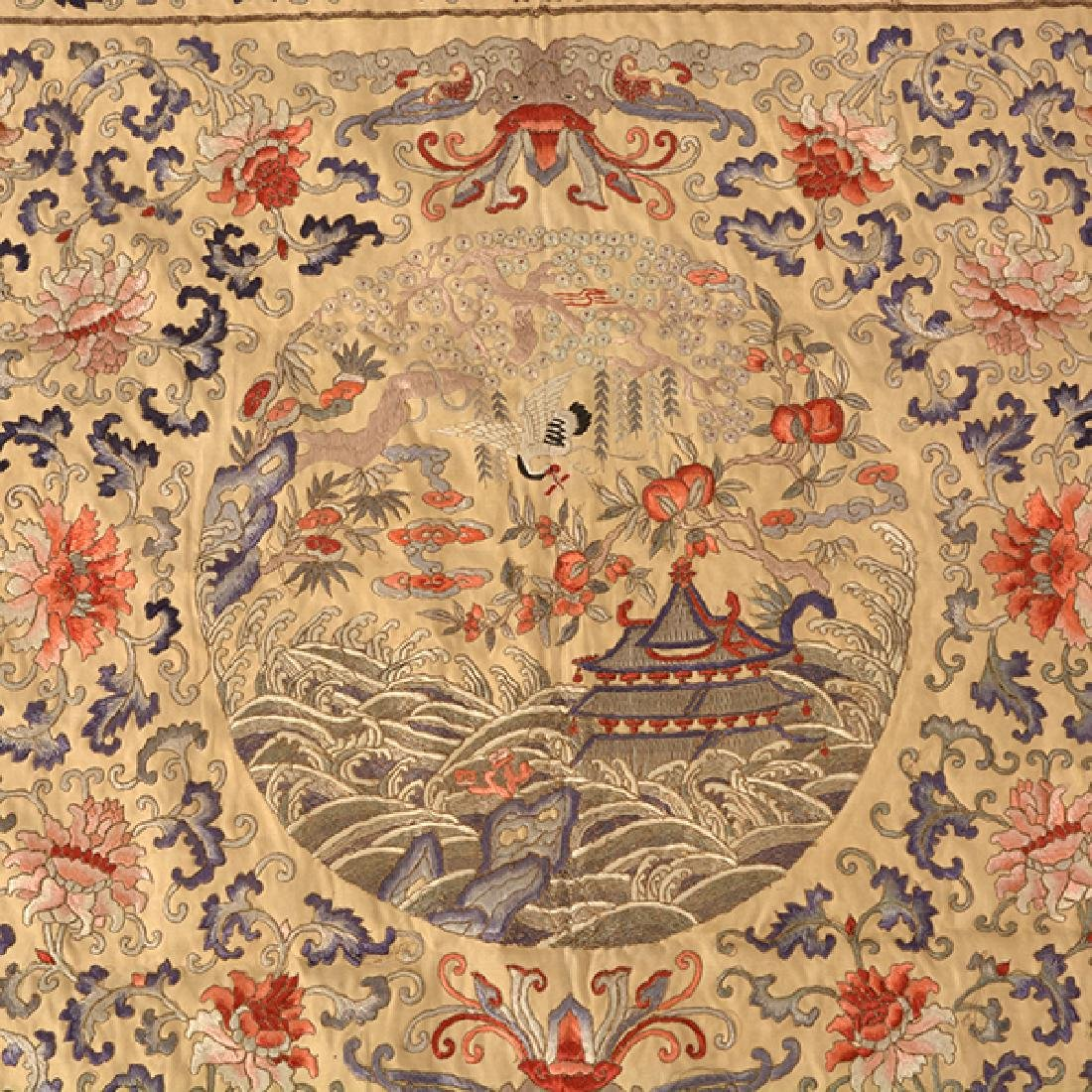 An Embroidered Square Panel, 19th Century - 2